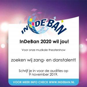 Doe jij ook auditie voor InDeBan 2020?